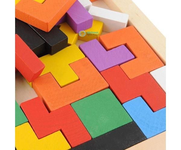 Ahşap Blok Tetris Zeka Oyunu