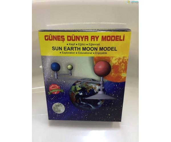 Dünya, Güneş ve Ay Modeli - Birleştir, Boya, Keşfet