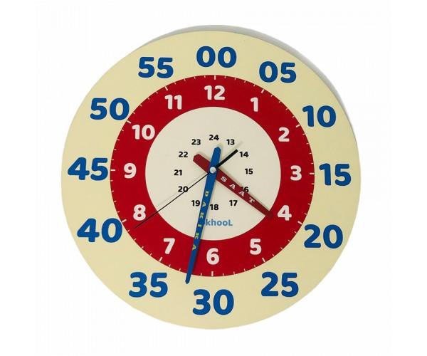 Eğitici Çocuk Duvar Saati 40 cm - Model 2