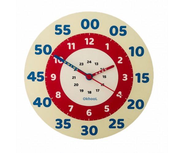 Eğitici Çocuk Duvar Saati 25 cm - Model 2