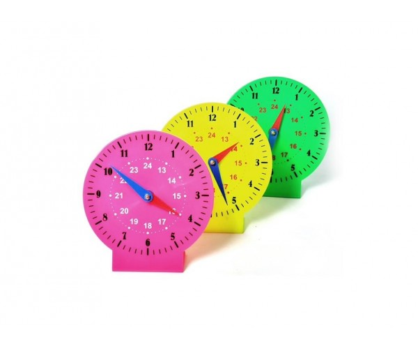 Saat Öğretim Materyali - Manuel Plastik Saat