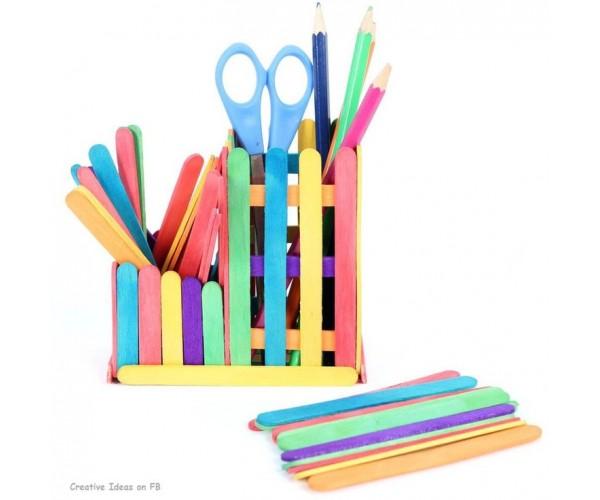 Renkli Abeslang - Dil Çubuğu - 50 Adet