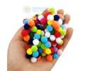 Renkli Ponpon - 1 cm - 200 Adet