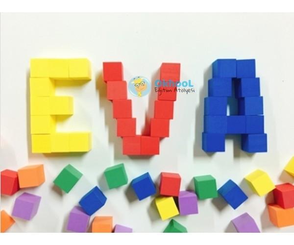 Eva Birim Küp - 100 Adet - Renkli
