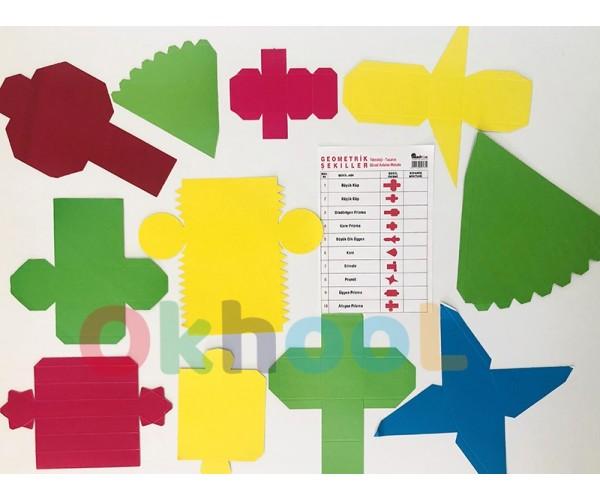 Geometrik Şekiller Açılımı Karton Maket Seti