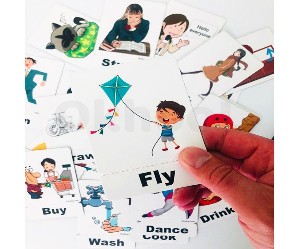 İngilizce Action Words (Eylemler) Magnet Kartlar