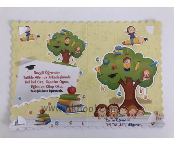 Karne Kılıfı Kitap ve Ağaç Tema